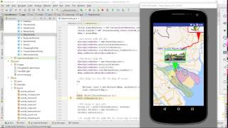 Android - Google Map - GPS - Routing - KML Free HD Video