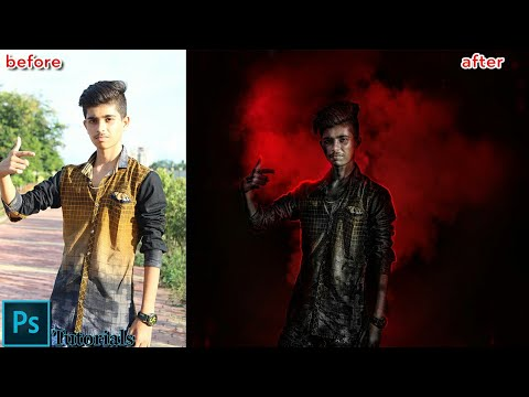 Photoshop manipulation tutorials / change background/cloths/ hairstyle and skin retouch