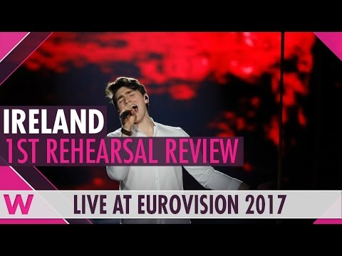 """Ireland First Rehearsal: Brendan Murray """"Dying to Try"""" @ Eurovision 2017 (Reaction)"""