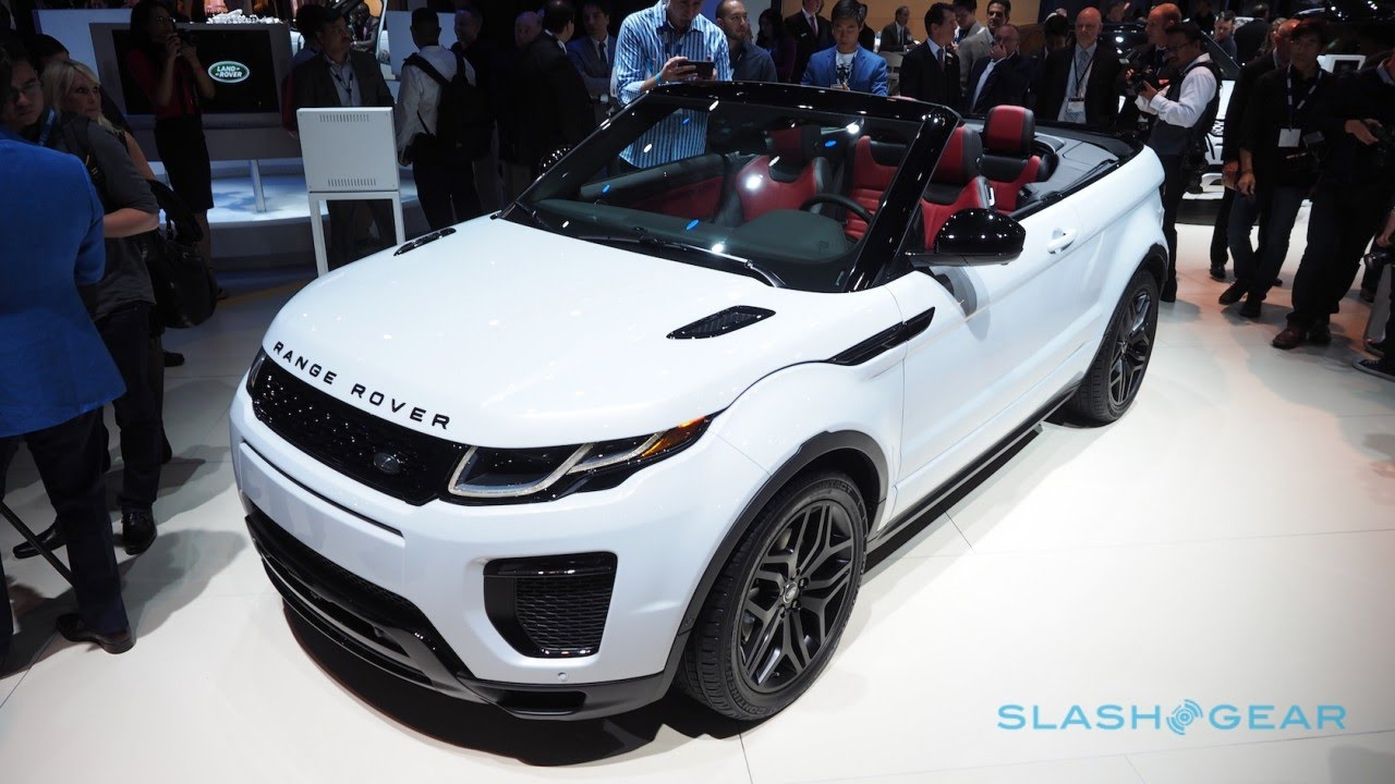 2017 Range Rover Evoque Convertible White Interior Red Color YouTube