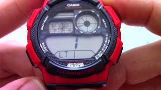 Годинник Casio Illuminator AE-1000W-4A - Інструкція, як налаштувати від PresidentWatches.Ru
