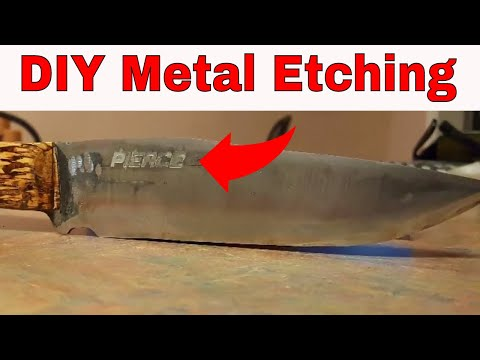 How To Etch Metal Using Common Household Items