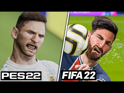 FIFA 22 Vs EFootball 2022 - Graphics, Facial Expressions, Player Animations, Celebrations, Etc