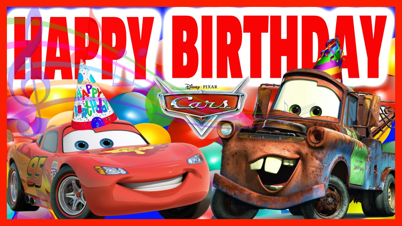 Pixar Cars Wallpaper Happy Birthday Lightning Mcqueen Rock Version Los