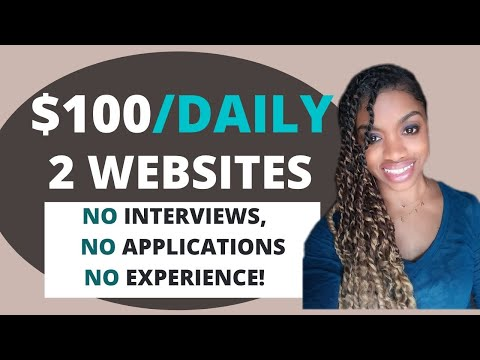 Easily Make $100 A Day Online In Your Spare Time! (No Surveys) Work From Home Jobs