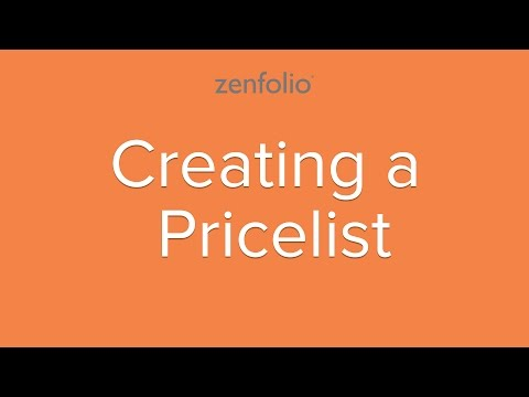 How to create your own price list and sell your photos online.