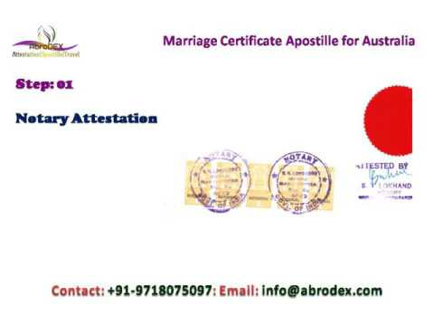 Marriage Certificate Apostille for Australia