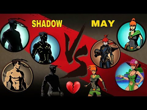 Shadow Fight 2 All Shadow Vs All May (LOVE FIGHT)