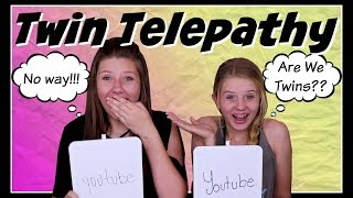 TWIN TELEPATHY CHALLENGE || READING MINDS || Taylor and Vanessa