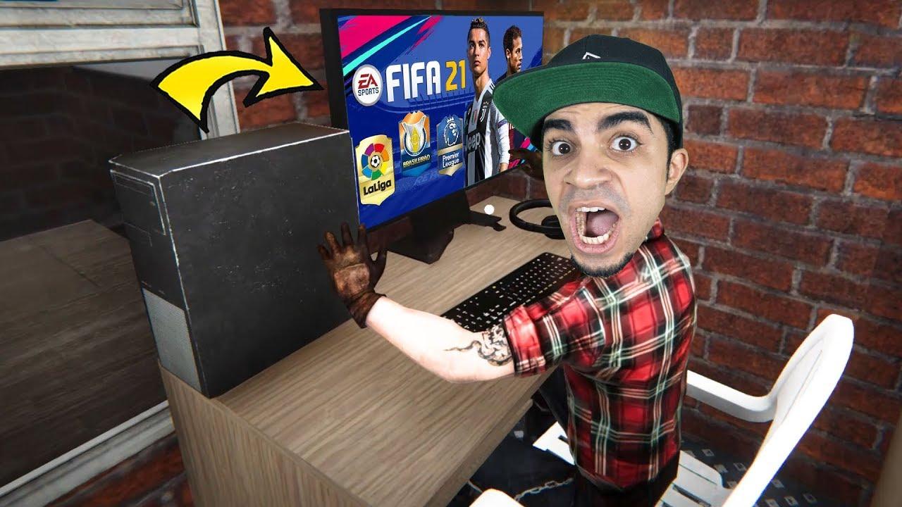 محاكي مقهى الألعاب #3 : فتحت محل العاب و جربت فيفا 21 الجديدة Internet Cafe Simulator !!