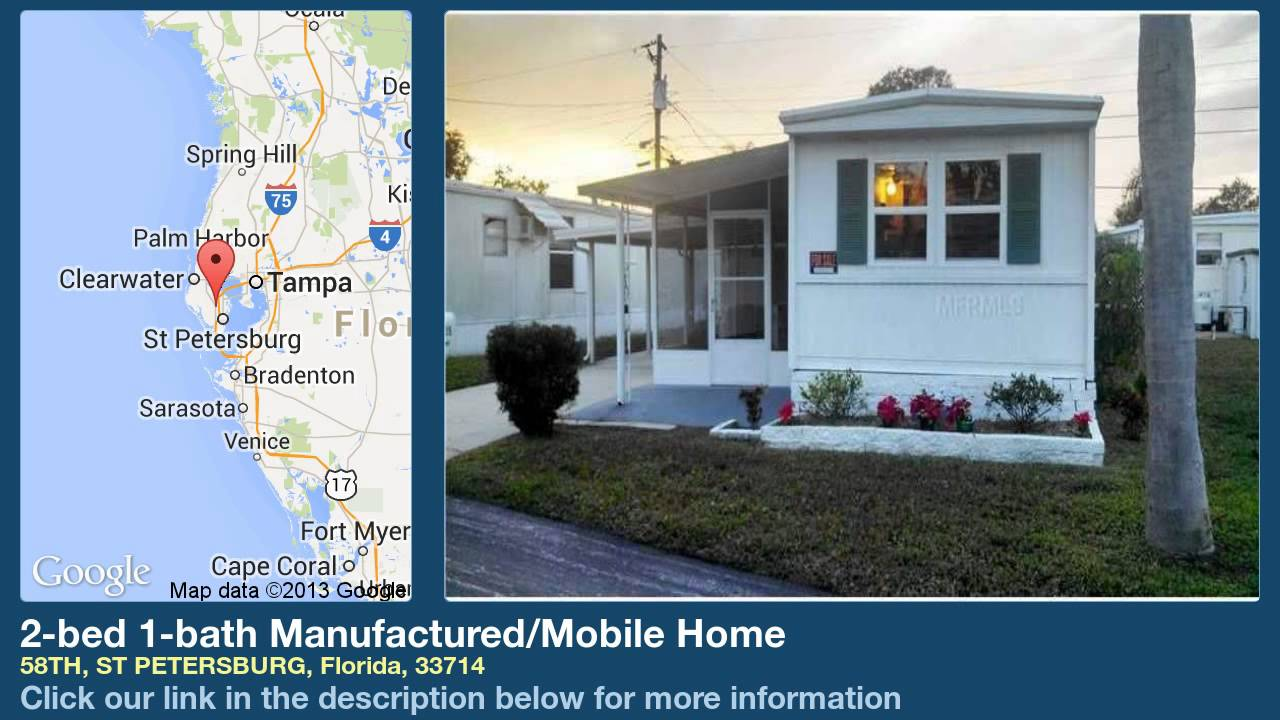 2 Bed 1 Bath Manufactured Mobile Home For Sale In St Petersburg Florida On Magic
