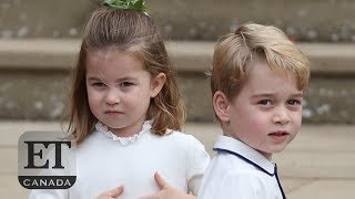 Fun Moments With Princess Charlotte, Prince George At Princess Eugenie's Wedding