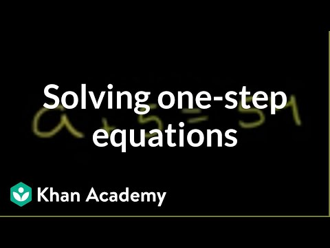 Example of solving a one-step equation | Linear equations | Algebra I | Khan Academy