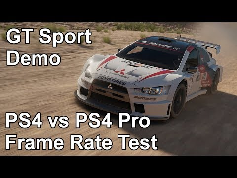 Gran Turismo Sport PS4 vs PS4 Pro Frame Rate Test (Demo)