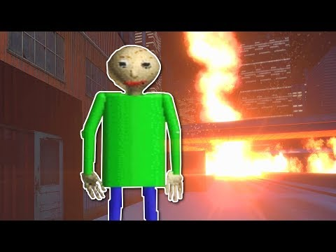 FIRE TORNADO AT BALDIS BASICS? - Garrys Mod Gameplay - Gmod Natural Disasters Mod