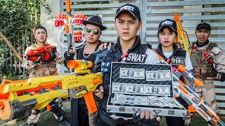 LTT Game Nerf War : Couple Warriors SEAL X Nerf Guns Fight Crime Braum Crazy Dead Zone