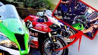 Ducati Panigale 1199 vs Ninja ZX10R, Proviamole! (Spavald92 & Freccia Verde)