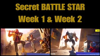 Fortnite Session X Secret Battle star week 1 & 2