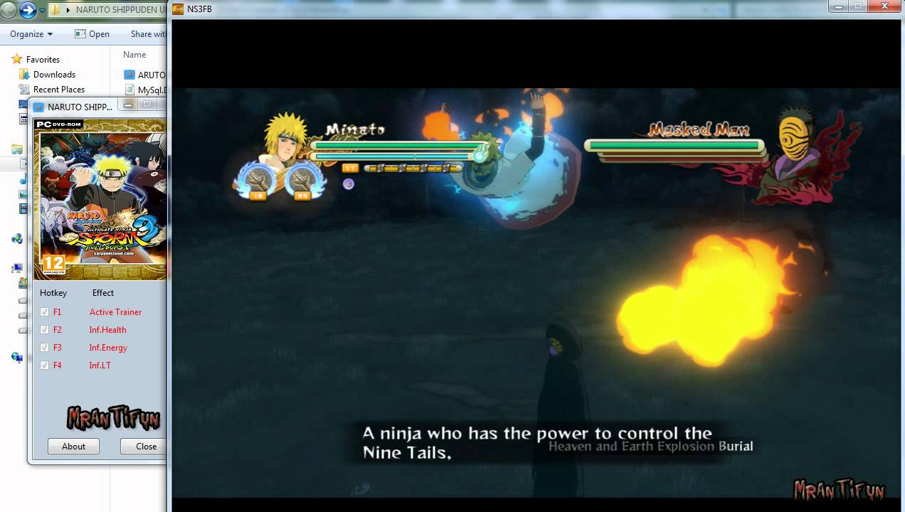 NARUTO SHIPPUDEN Ultimate Ninja STORM 3 Cheats +3,Trainer +3 V1 0 Trainer  fixed