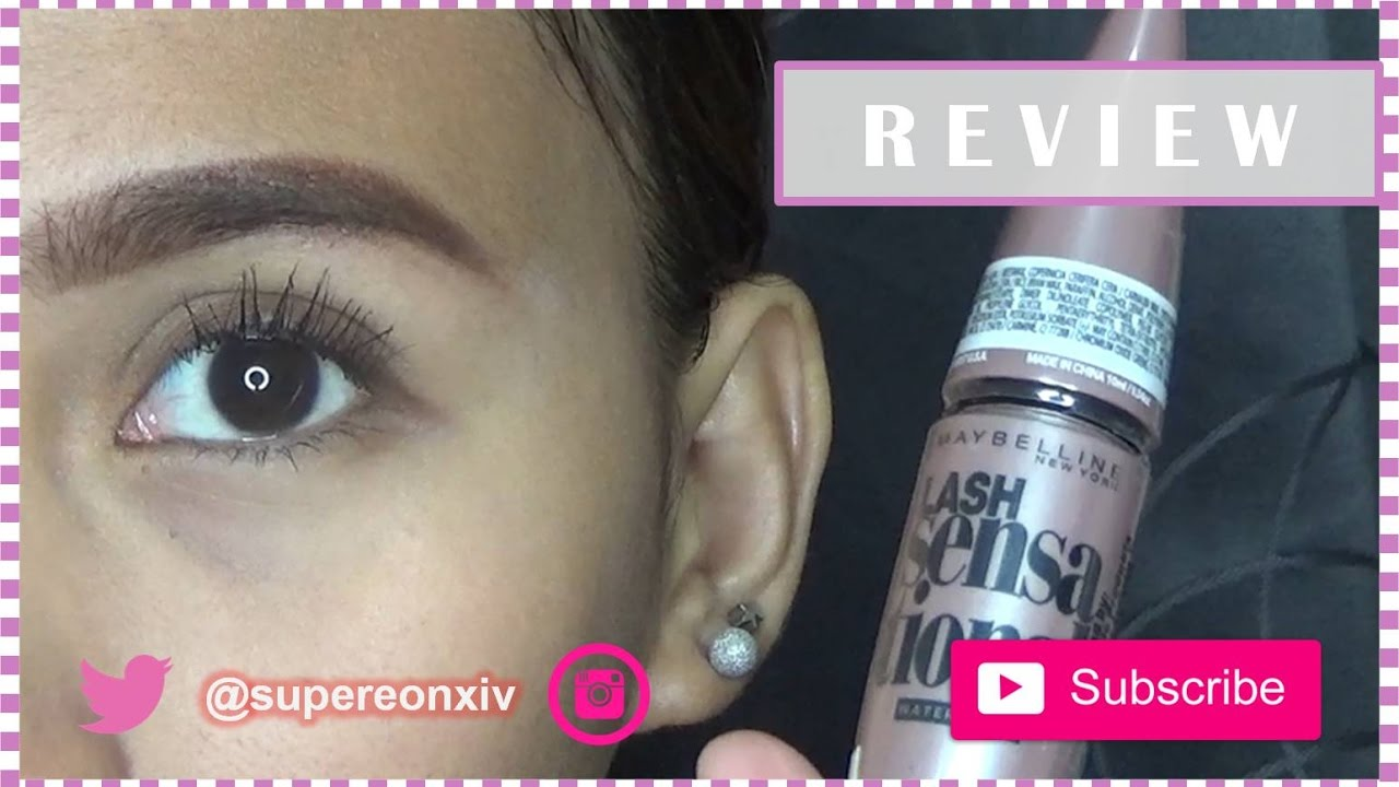 648b39d8a87 Maybelline Lash Sensational Mascara Review (Tagalog) | SuperEon xiv ...