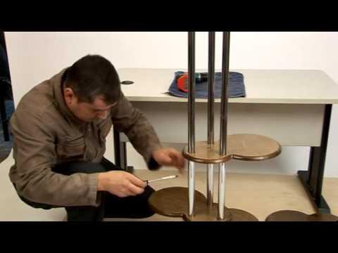 видео: Полка под цветы, Инструкция по сборке Ника - 5А.wmv