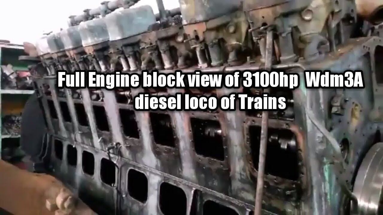 Full Engine Block View Of 3100hp Alco Conventional Diesel