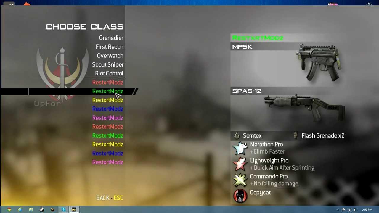 mw2 pc mod menu