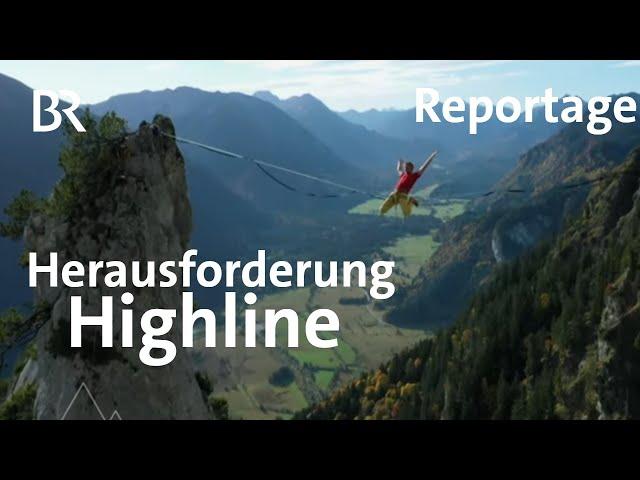 Highline-Training: Michael Düchs unterwegs mit Lukas Irmler  | Bergauf-Bergab | Doku | BR