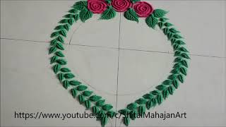 Very Simple and Easy Christmas Rangoli Designs  Creative Rangoli by Shital Mahajan