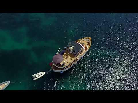 Atlantic trawler, teak yacht overview