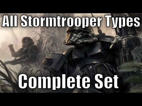 All Stormtrooper Types and Variants - Complete Set