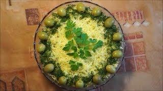 Вкусный салат. Рецепт салата с курицей, грибами и ананасом. Очень вкусный праздничный салат.