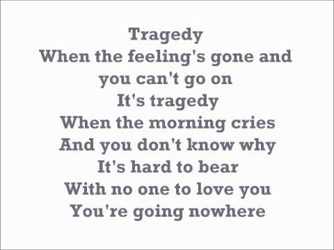 Tragedy Steps Karaoke with backing vocals [Official]