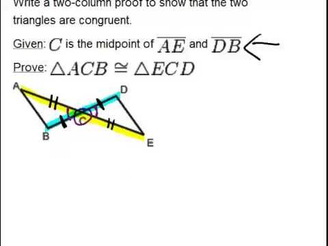 SAS Triangle Congruence: Examples (Geometry Concepts) - YouTube