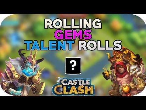 Rolling 11k Gems For Obuglas For Skull Knight Grimfiend Castle Clash Hero Talent Rolls
