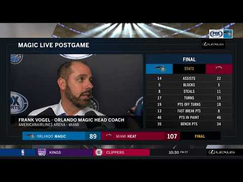 Frank Vogel -- Orlando Magic at Miami Heat 12/26/17