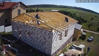 как сделать крышу дома из пеноблоков