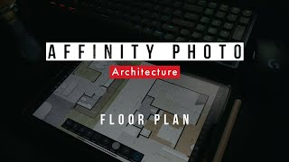 Bagaimana saya membuat floor plan di Affinity Photo - Visualisasi Arsitektur