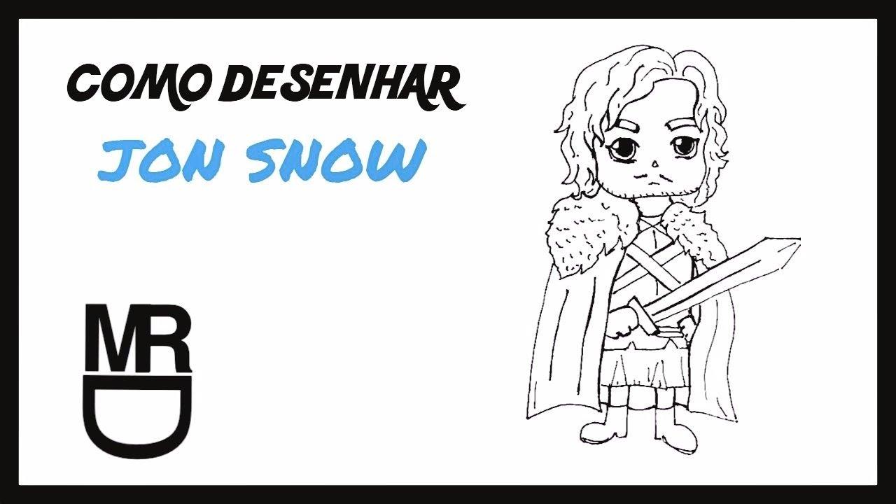 Como Desenhar O Jon Snow Game Of Thrones Youtube