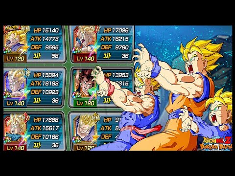 Full 100% EZA Family Kamehameha Showcase! | DBZ Dokkan Battle