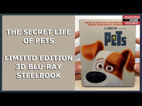 THE SECRET LIFE OF PETS - LIMITED 3D BLU-RAY STEELBOOK - MEDIA MARKT/SATURN  EXCLUSIVE