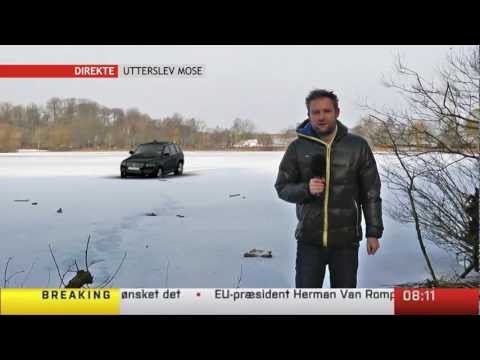 Car Goes through the Ice On Live TV