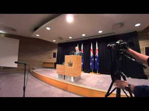 NZ PM John Key's Press Conference 31st August 2015