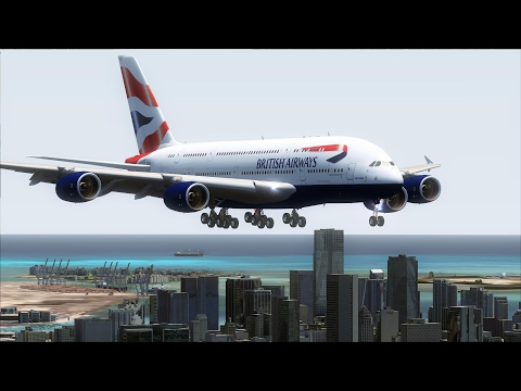 FSX A380 London Heathrow to Miami [AMAZING REALISM+EXTREME GRAPHICS]