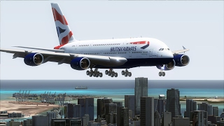 FSX A380 London Heathrow to Miami [AMAZING REALISM+GRAPHICS]