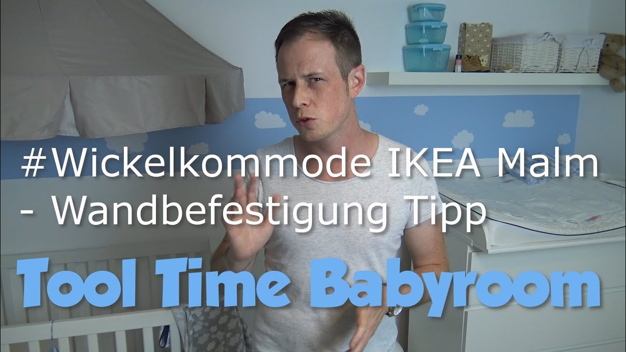 wickelkommode ikea malm wandbefestigung tipp youtube. Black Bedroom Furniture Sets. Home Design Ideas