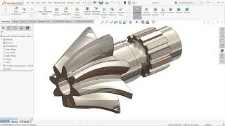 Solidworks tutorial | How to make Helical Bevel Gear in SolidWorks