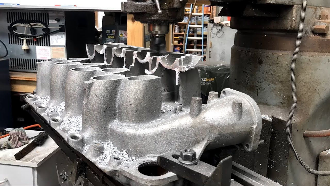 What Is An Intake Manifold >> Part 2 - Milling a Holden Intake Manifold for an Eaton M122 Supercharger - YouTube