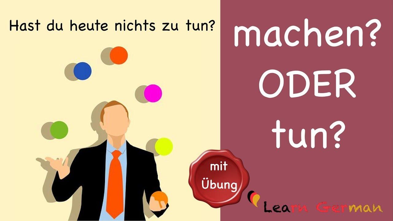 machen ODER tun   Learn German   Common Mistakes in German   A20   B20