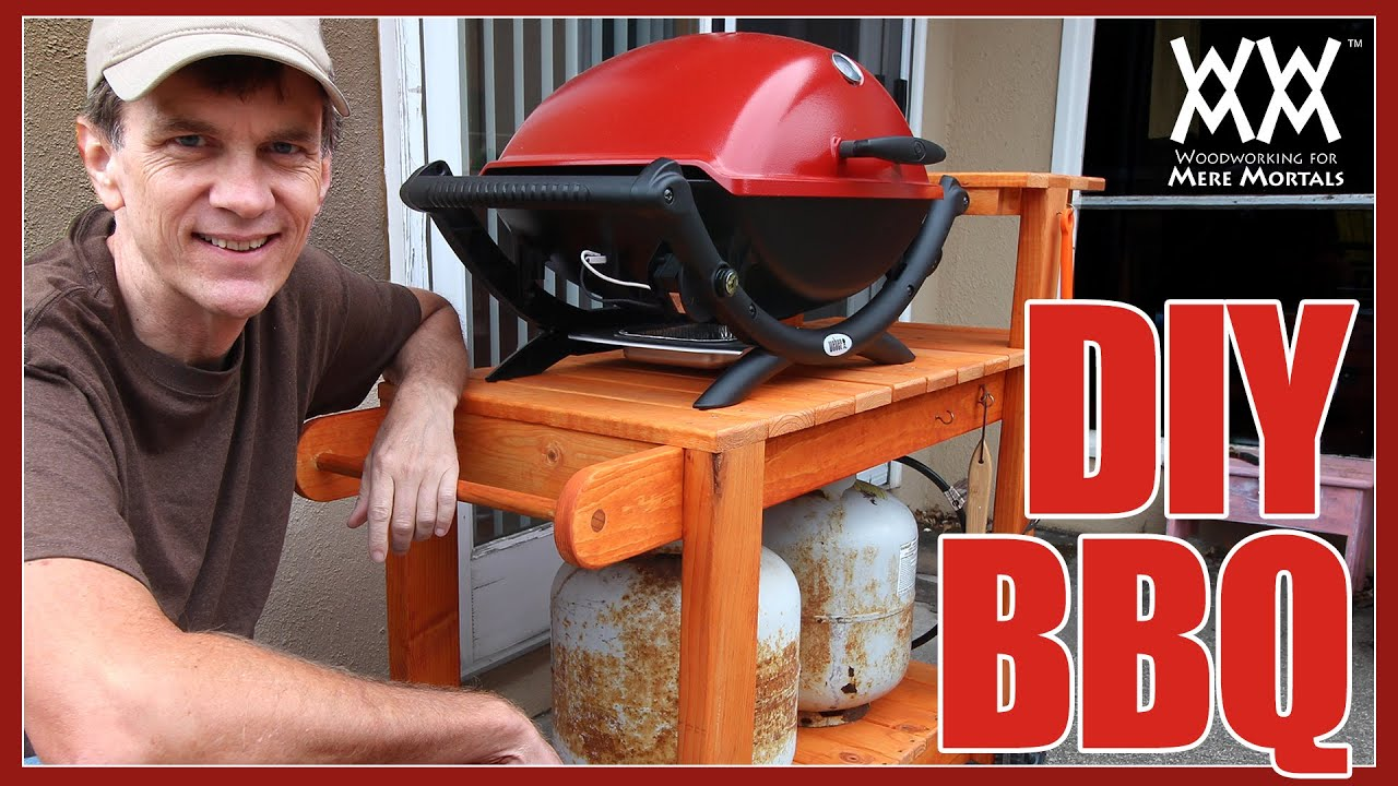 DIY Barbecue Grill Cart. Build it yourself! Easy woodworking project. - YouTube